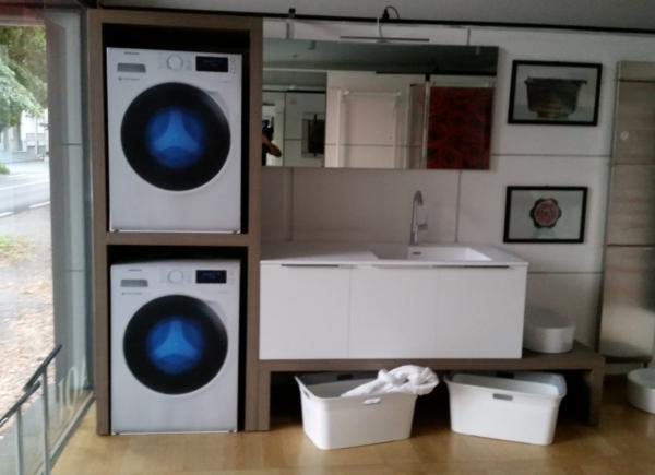 Arredo lavanderia su misura monza e brianza como for Lavatrice e asciugatrice in colonna