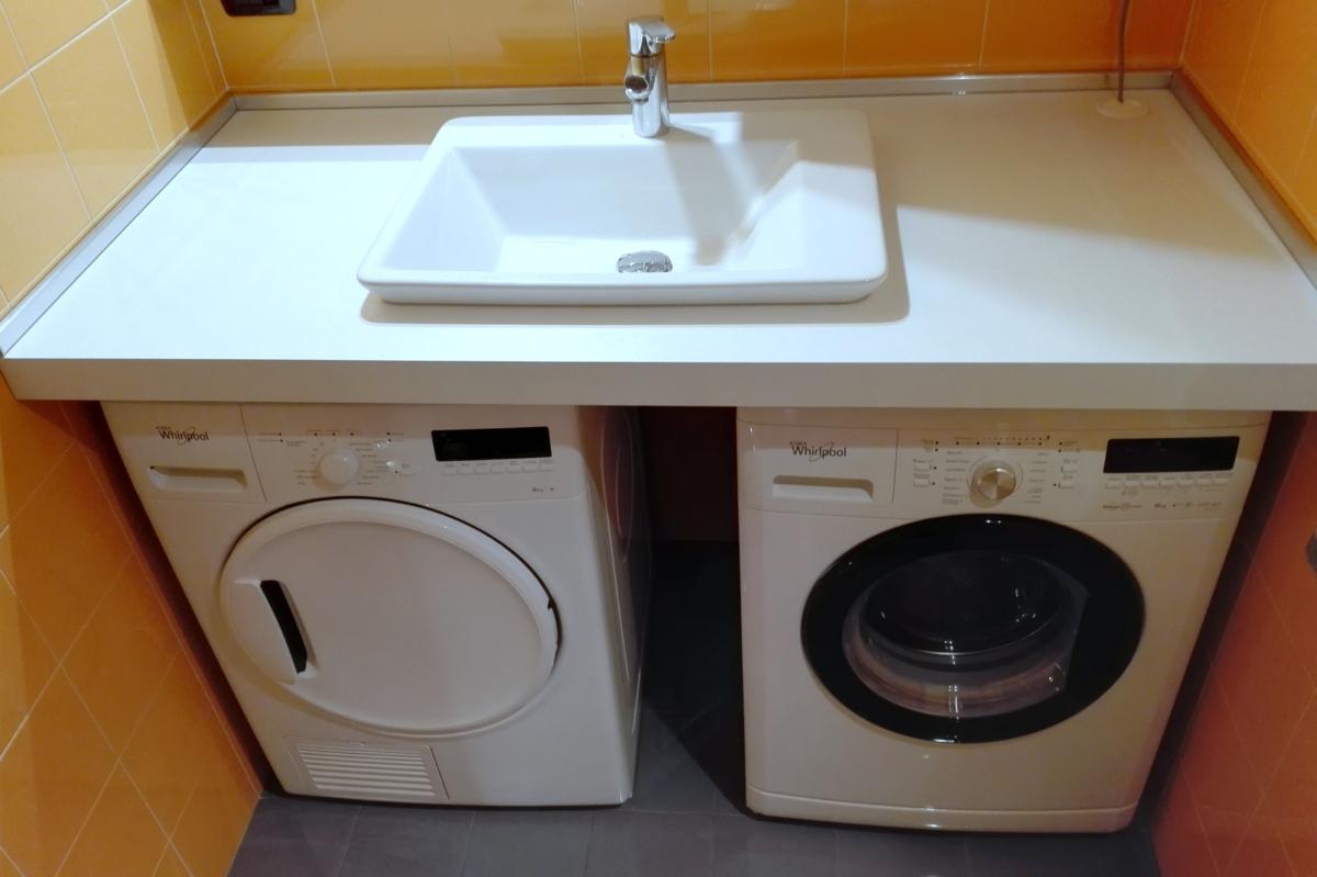 Lavatrice asciugatrice lavabo si puo aqua - Bagno con lavatrice e asciugatrice ...